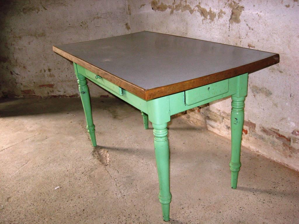Antik køkkenbord med 2 skuffer « Antik og Gamle Møbler